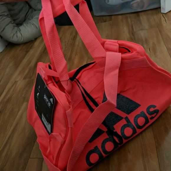 nWT adidas diablo neon pink duffle bag Small 619ef287aa45a
